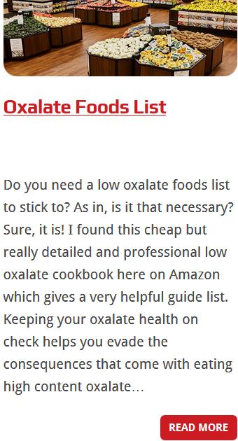 low oxalate foods 4
